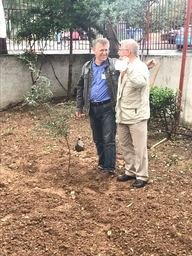 Mr.Prokopis and Mr. Halbe planting the Erasmus olive tree May 2017.jpg