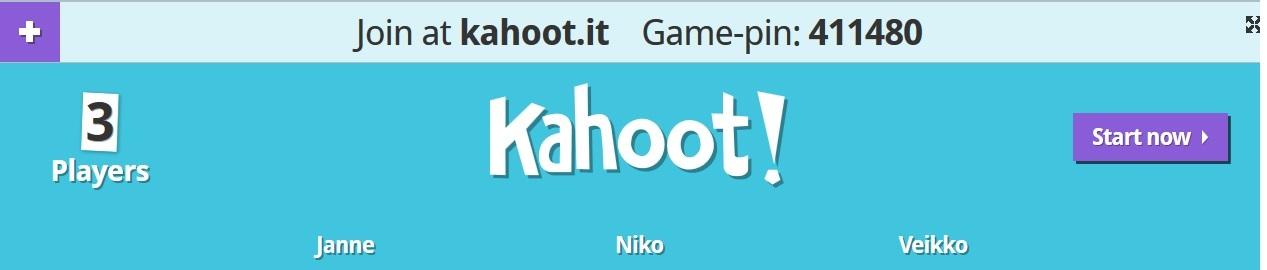 Kahoot! -tietokilpailu