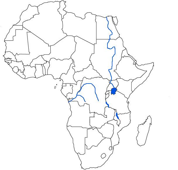 Afrikan Kartta Valtiot Jokia Ja Jarvia