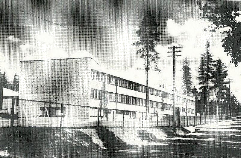 Haapamäen yhteislyseo vuodelta 1966.