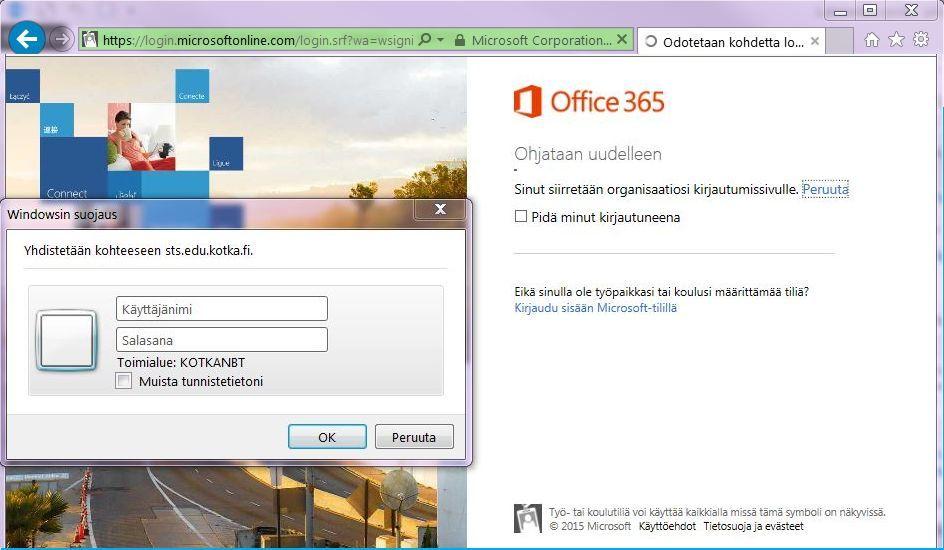 office 365 kirjautuminen Hyvinkaa