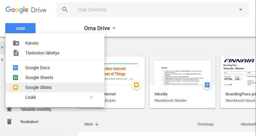 Google Sisäänkirjautuminen