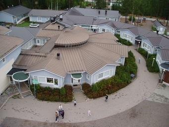 Muijalan koulu ilmakuvassa.