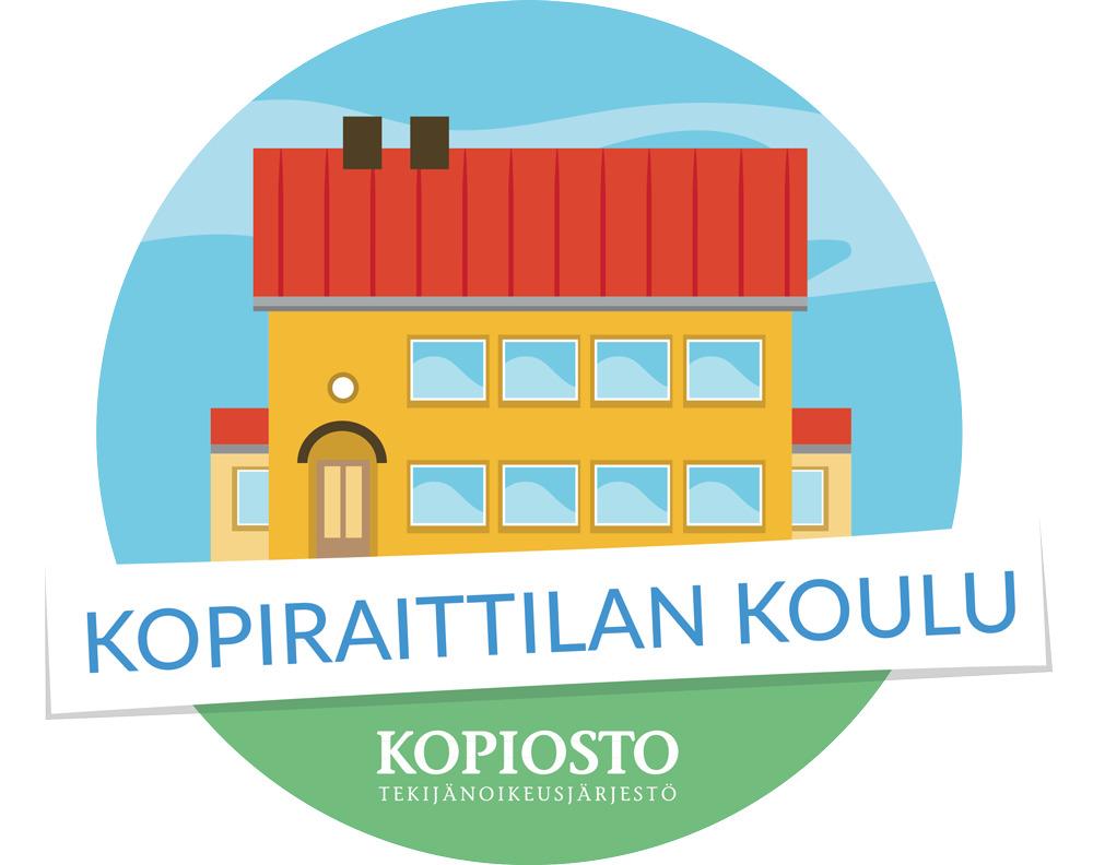 Kopiraittilan logo. Klikkaamalla logoa pääset Kopiraittilan -oppimisympäristöön.