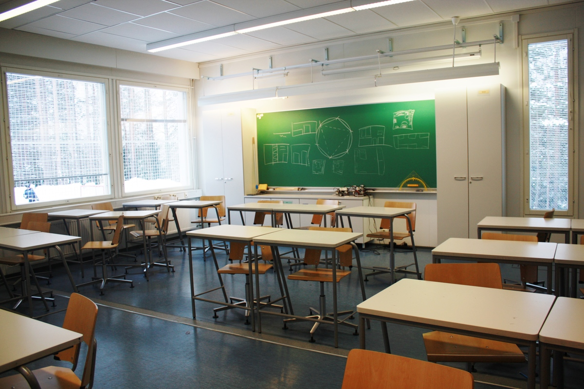 Mäntynummen yhtenäiskoulun matematiikan luokka