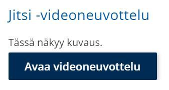 Kuvassa avaa videoneuvottelu -painike