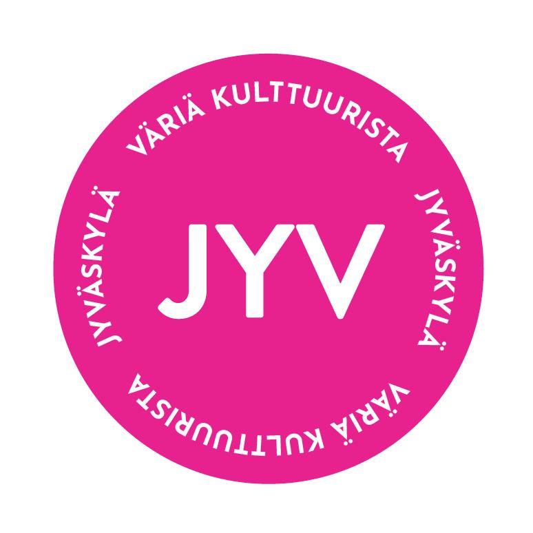 Pinkki badge, jonka sisällä teksti Väriä kulttuurista.