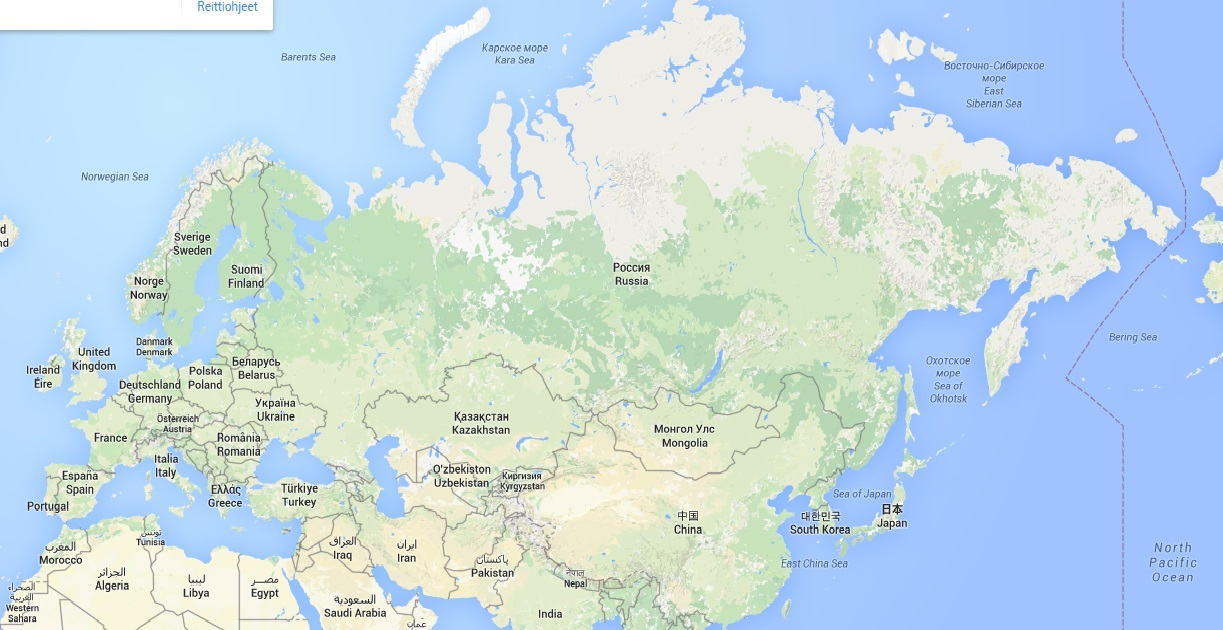 Venäjä Pinta-Ala