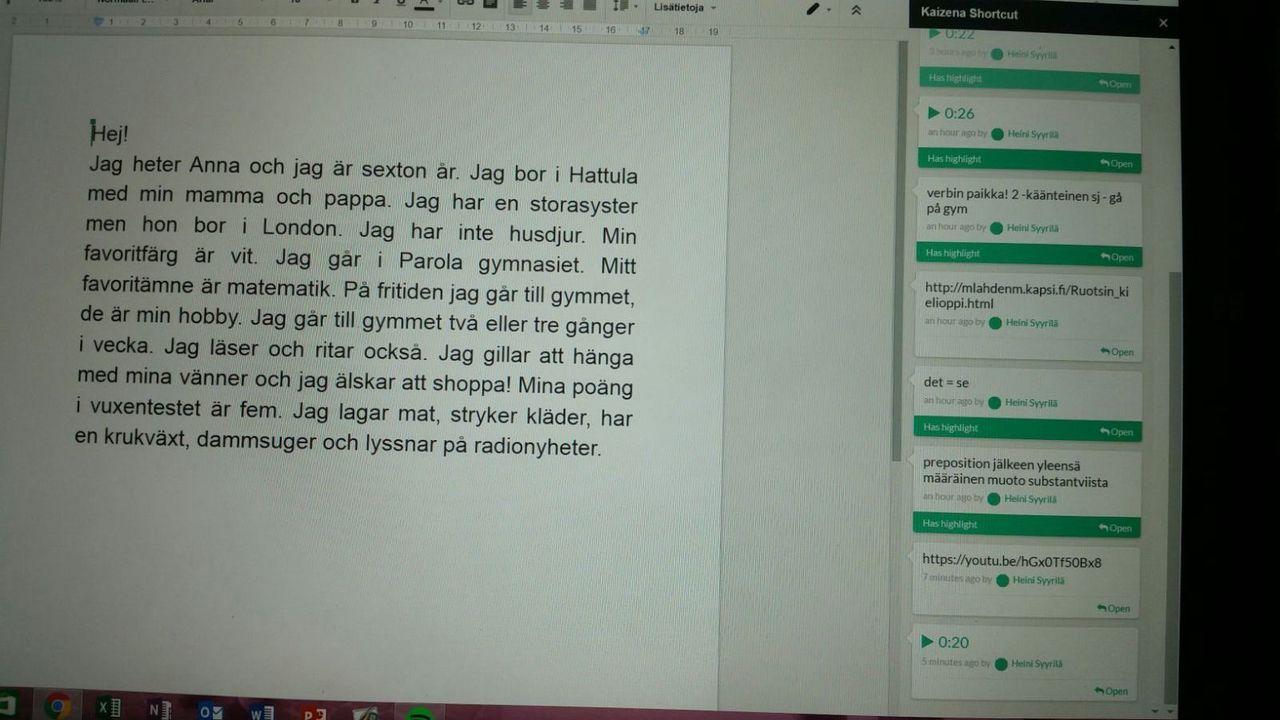 KAizena oppilasnäkymä Docsissa 2.jpg