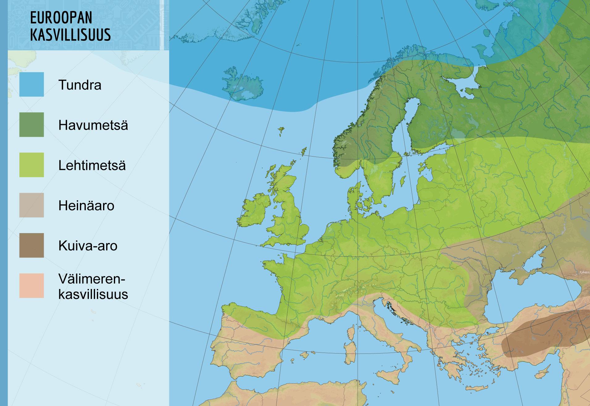 Euroopan Kasvillisuusvyohykkeet