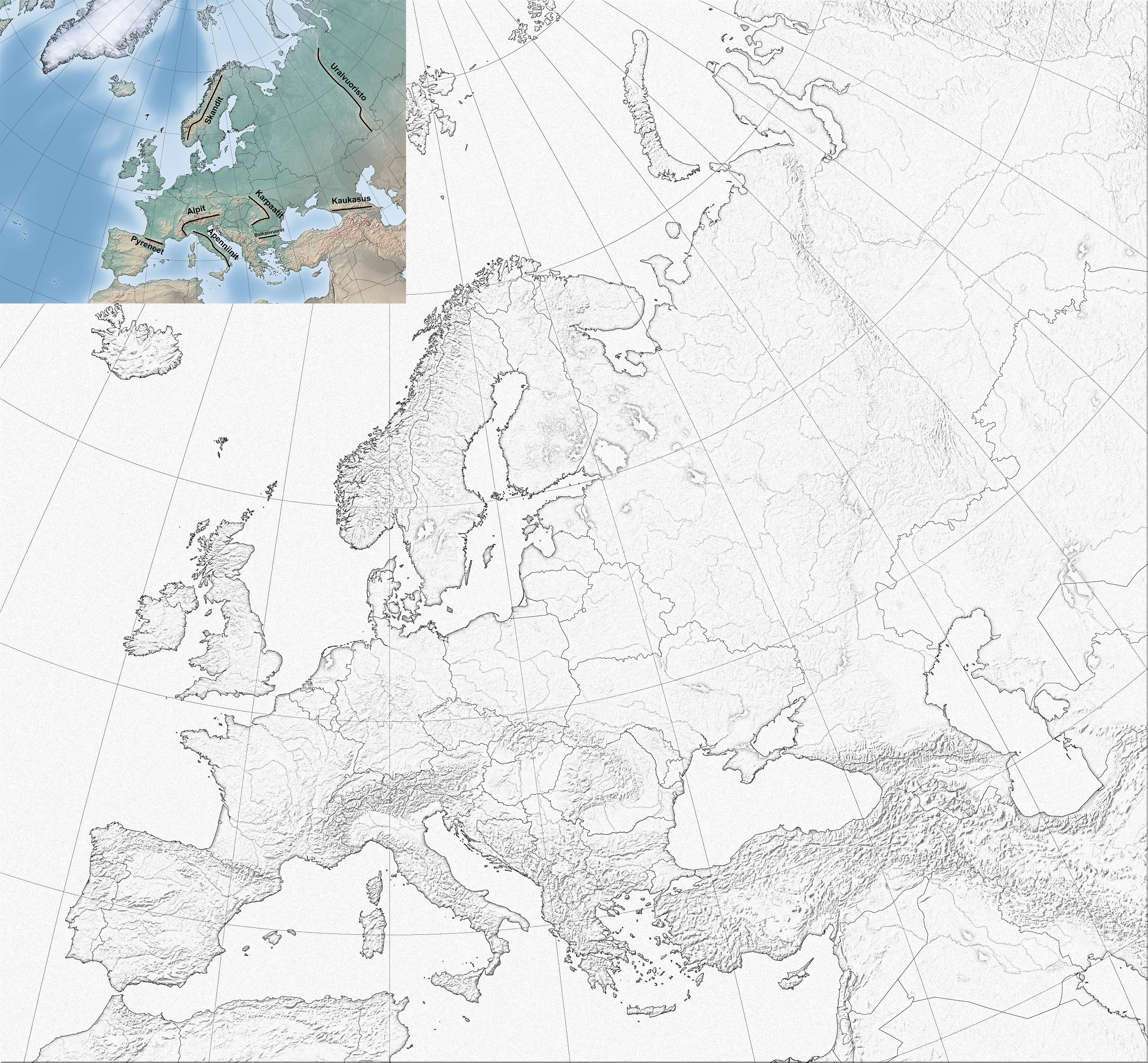 Euroopan Kartta Malli Ja Varitys Jpg