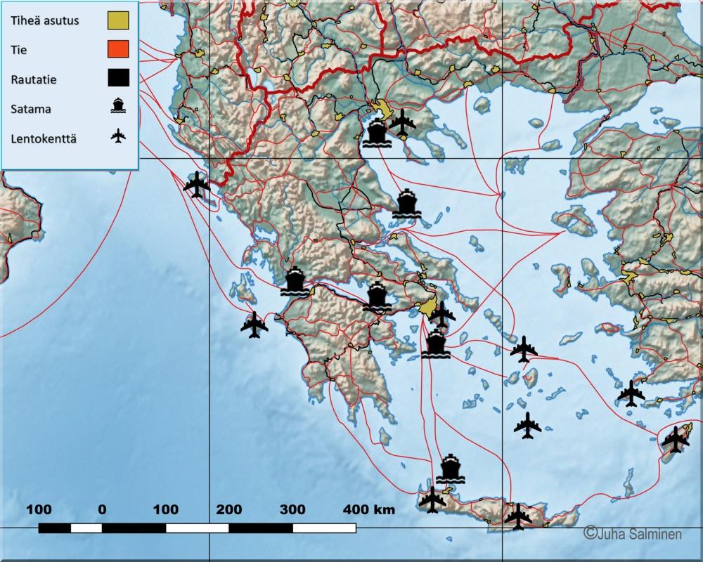 Kreikka Lentokentät