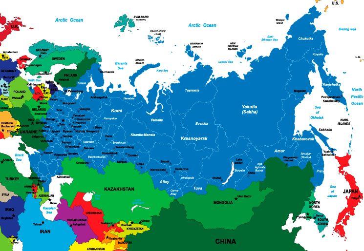 Venäjän Kartta