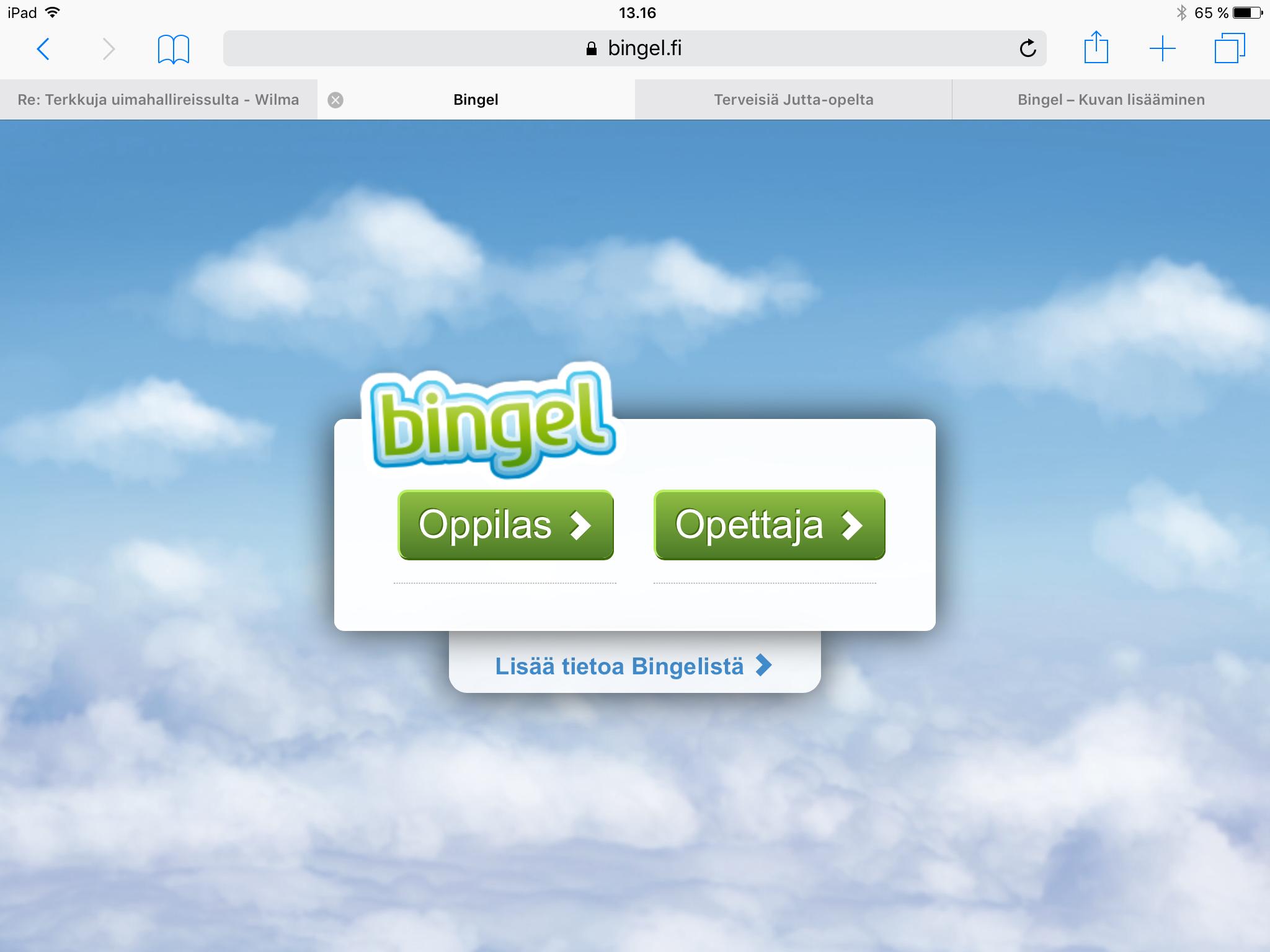 Bingel.Fi Oppilas