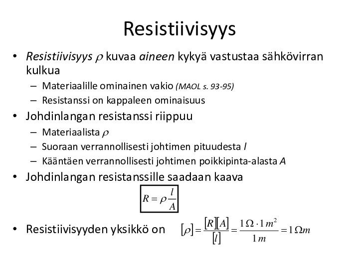 Resistiivisyys