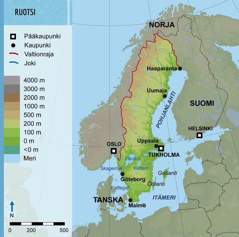 Ruotsin Kartta Ruotsille Kuuluu Kaksi Itameren Suurta Saarta