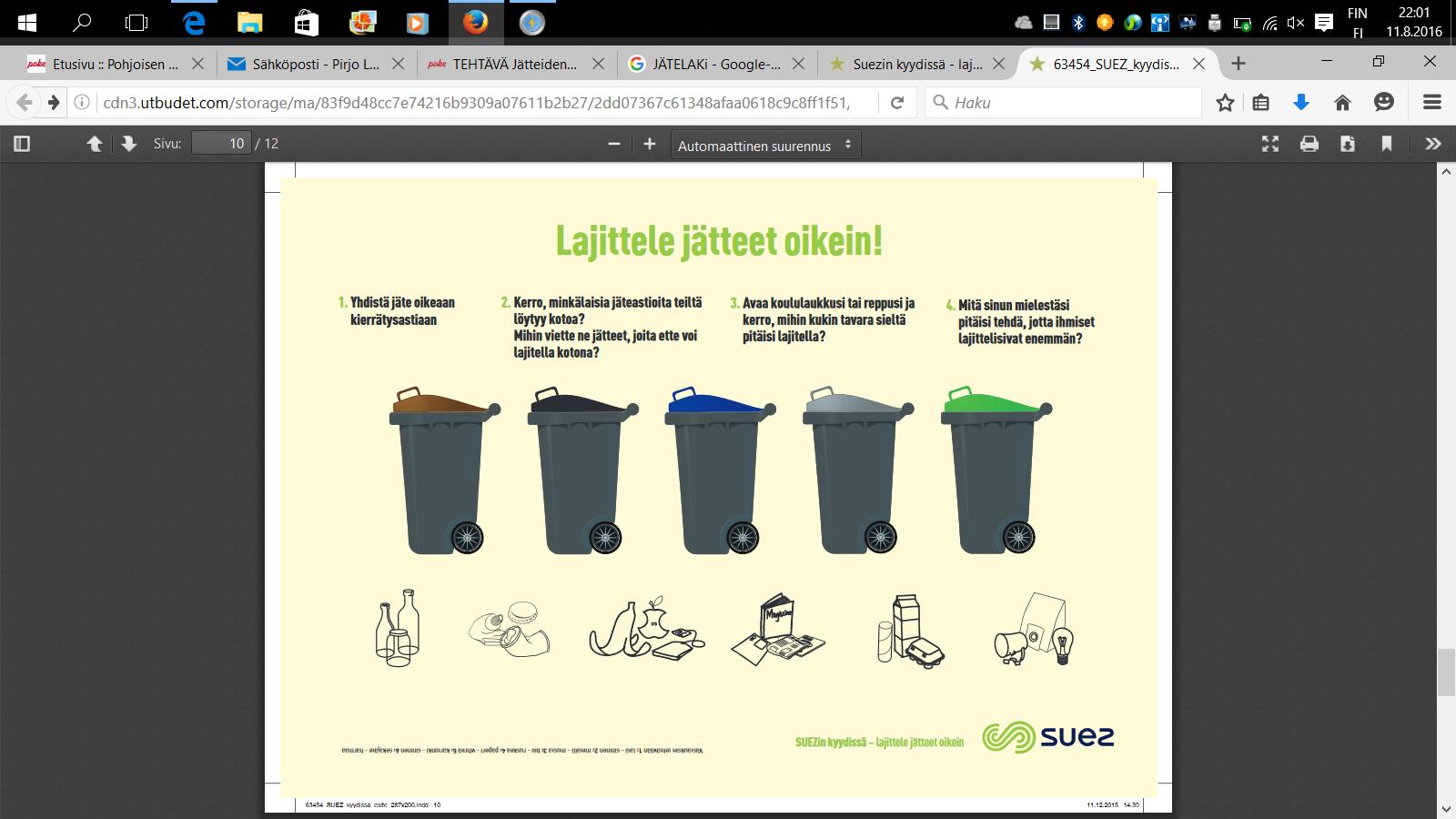 Jätteiden Lajittelu Ja Kierrätys