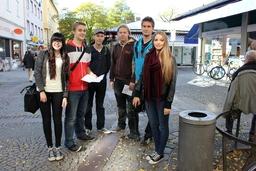 Ensimmäinen päivä Münchenissä, suuren markkina-alueen laidalla. Oli 27 astetta lämmintä!.JPG