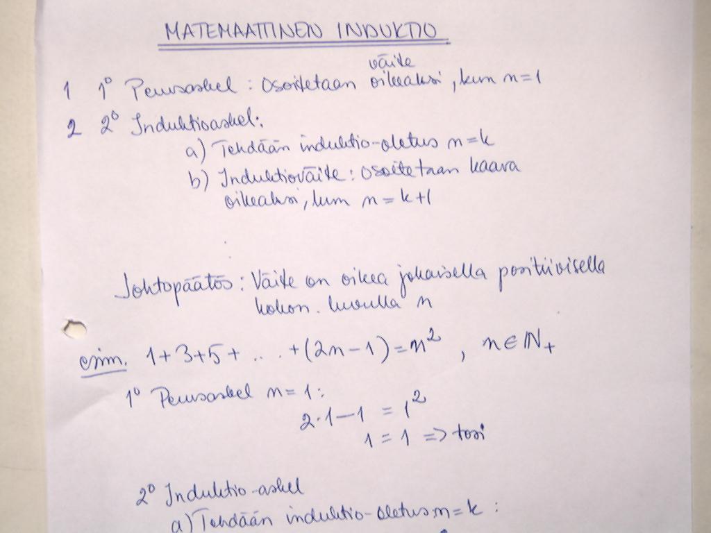 Matemaattinen Induktio