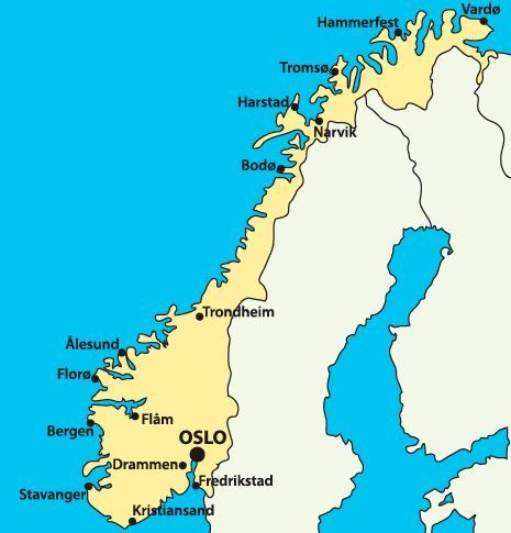 Pohjois Norjan Kartta