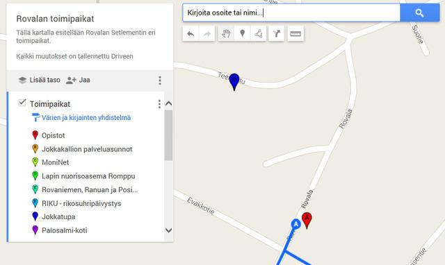 Google Maps Kohteiden Merkitseminen Karttaan