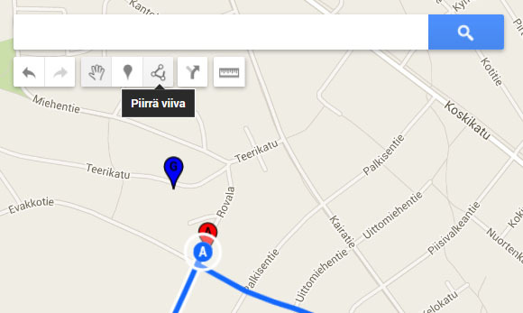 Google Maps Reitin Merkitseminen Karttaan